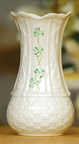 "Belleek China Kells 7"" Vase"