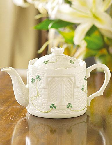 Belleek China Castle Teapot
