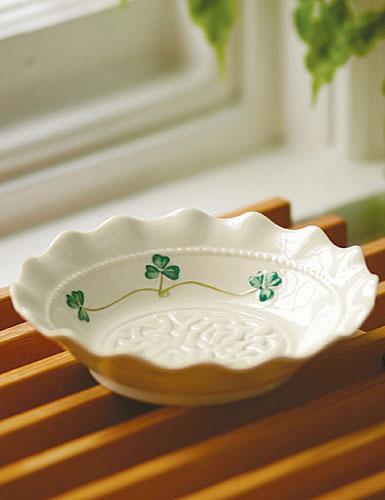 Belleek China Tara Accent Dish