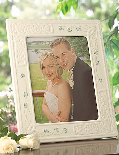 "Belleek China Tara 8x10"" Picture Frame"