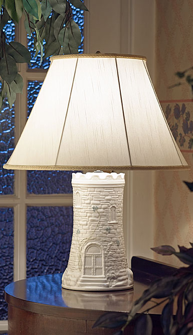 belleek castle lamp and shade