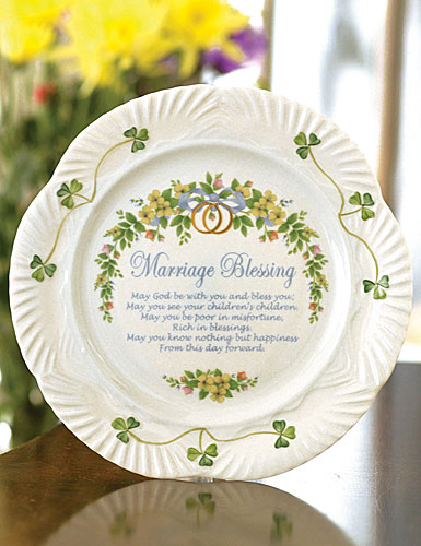 Belleek China Marriage Blessing Plate