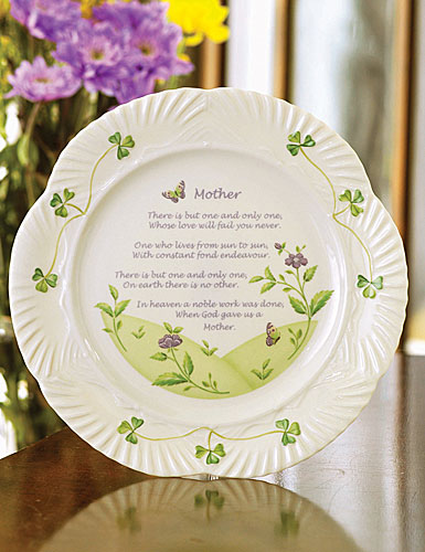 Belleek China Mothers Blessing Plate