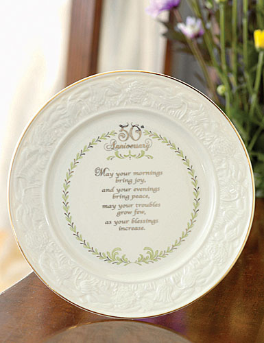 Belleek China 50Th Anniversary Plate