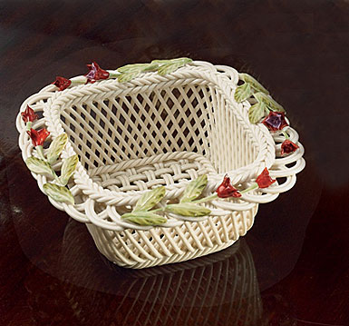 Belleek Garden Fuchsia Basket