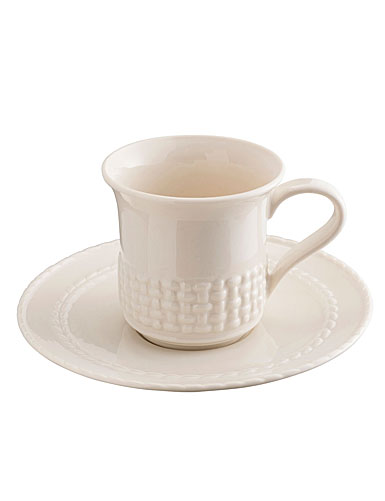 Belleek China Galway Weave Cup and Saucer Set