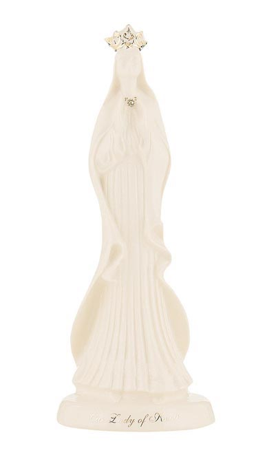 Belleek China Lady of Knock Statue