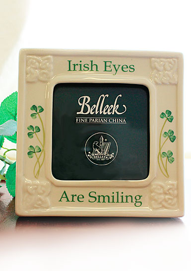 Belleek China Irish Eyes Are Smiling Picture Frame