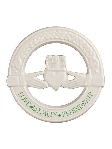 Belleek Claddagh Wall Plaque