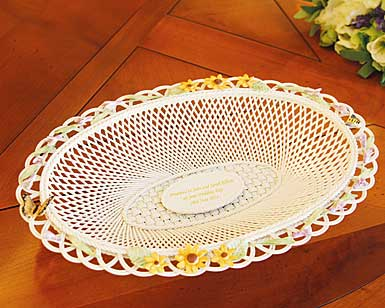 Belleek China Lavender and Sunflower Basket