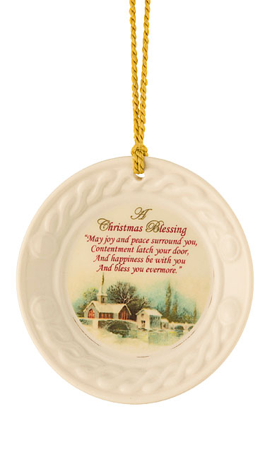 Belleek Christmas Blessing Ornament