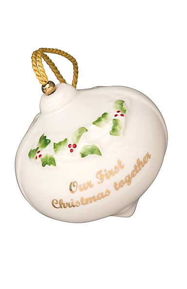 Belleek China 2018 Our First Christmas Ornament