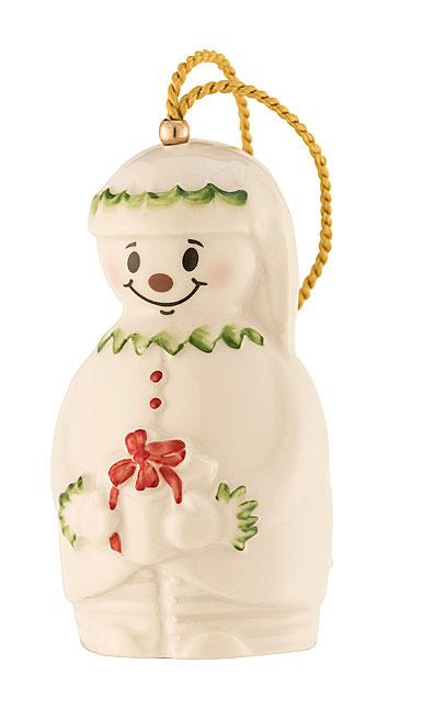 Belleek Elf Snowman Bell Ornament