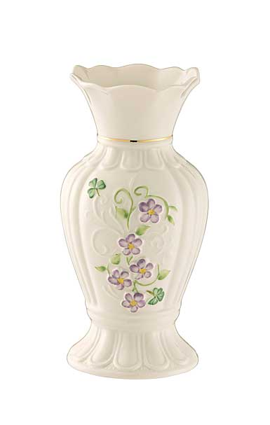 "Belleek China Irish Flax 7"" Vase"