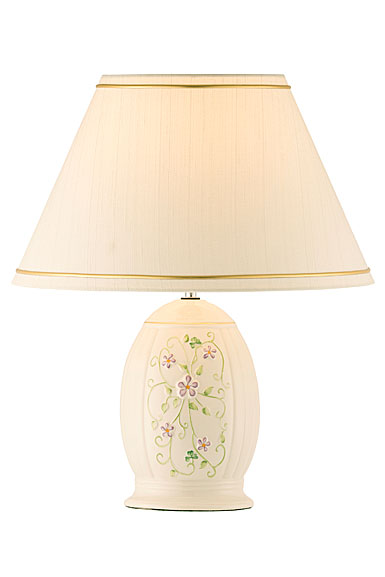 Belleek China Irish Flax Lamp and Shade