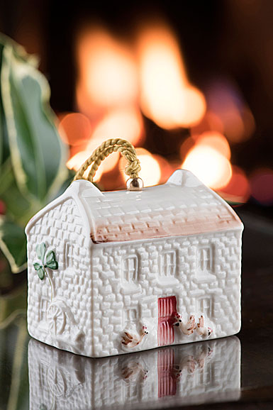 Belleek 2018 Annual Bell Christmas Ornament, Kerry Farmhouse