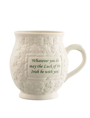Belleek Luck of the Irish Mug