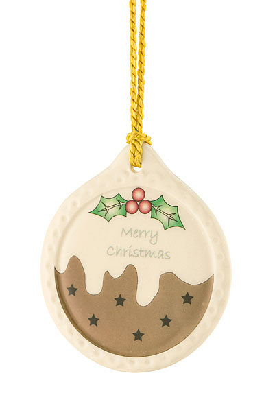 Belleek Plum Pudding Ornament