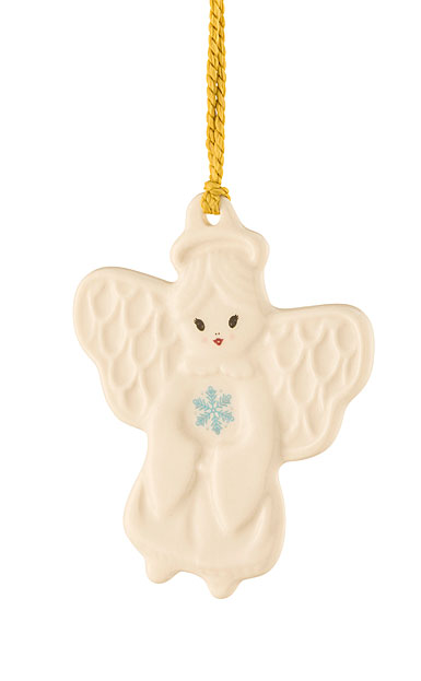 Belleek Angel with Snowflake Ornament