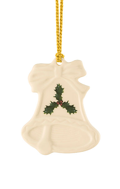 Belleek Holly Bell Ornament