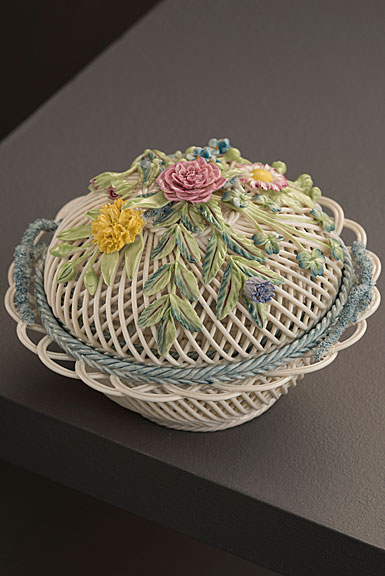 Belleek Masterpiece Collection Round Covered Basket Limited Edition