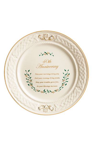 Belleek Celebration 40th Anniversary Plate