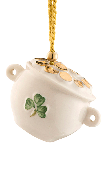 Belleek China Pot of Gold Ornament