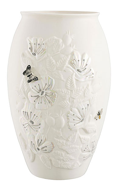 "Belleek Irish Wild Rose 10"" Vase"