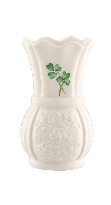 Belleek Shamrock 4'' Vase