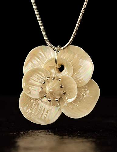 Belleek China Bloom Pendant Necklace