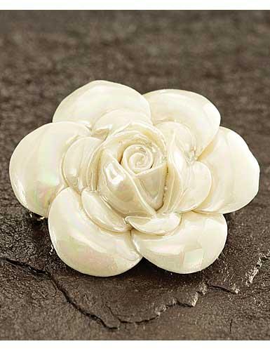 Belleek China Rose Brooch