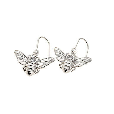 Belleek Living Jewelry Honey Bee Earrings, Pair