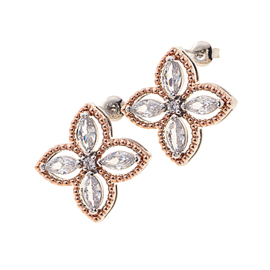 Belleek Living Jewelry Quart Earrings, Pair