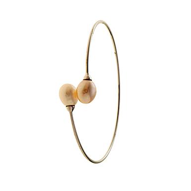 Belleek Living Jewelry Oyster Bangle Bracelet