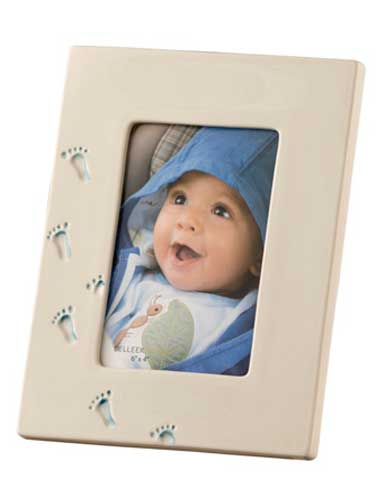 Belleek China Precious Memories Blue Baby Boy Picture Frame