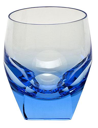 Moser Crystal Bar DOF Tumbler, Aquamarine, Single