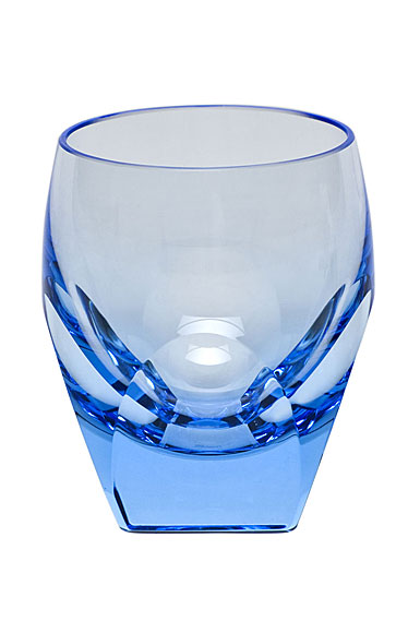 Moser Crystal Bar Shot Glass 1.5 Oz. Aquamarine