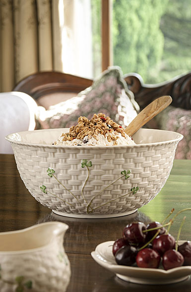 Belleek China Shamrock Mixing Bowl