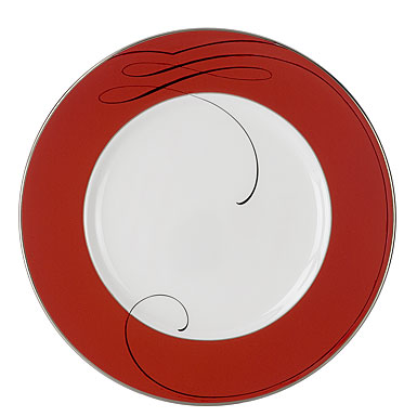 Waterford China Ballet Ribbon Accent Plate, Red