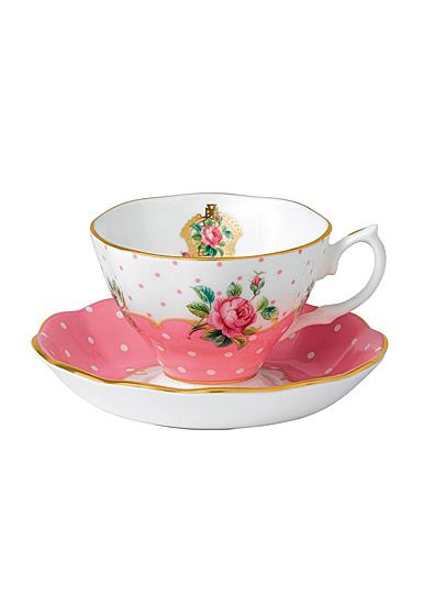 Royal Albert Cheeky Pink Teacup and Saucer Set