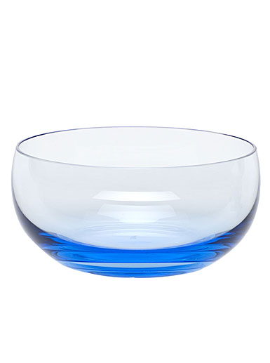Moser Crystal Culbuto Bowl, Aquamarine