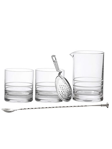Schott Zwiesel Tritan Crystal, Crafthouse Mixing Set (Crystal DOF Tumbler, Mixing Glass, Julep Strainer, Bar S