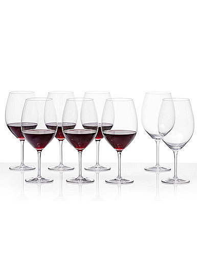 Schott Zwiesel Tritan Crystal, Cru Classic Full Red Wine Set 6 + 2 Free