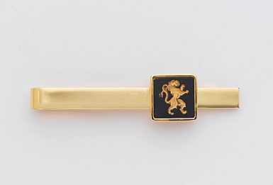 Wedgwood Black Round Gold Tie Slide, Horse's Head
