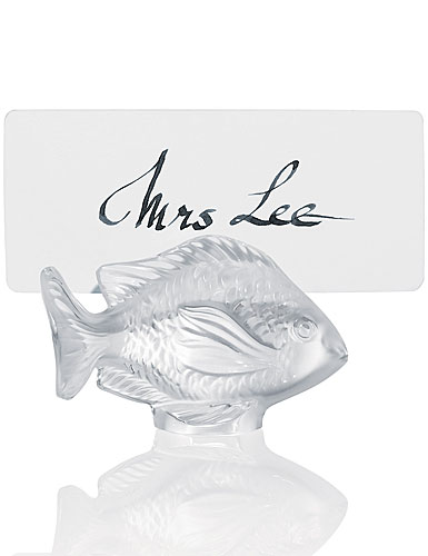 Lalique Damsel Fish Menu Holder
