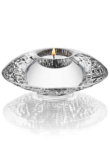 Orrefors Crystal, Discus Steel Crystal Votive, Single