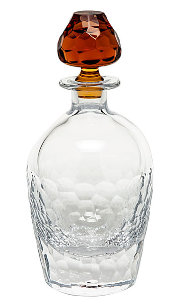 "Moser Crystal Fusion Decanter 24 Oz. 10.8"" Clear and Topaz"