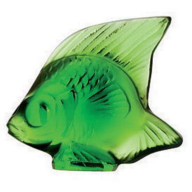 Lalique Green Meadow Fish
