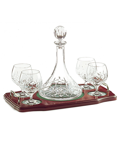Galway Longford Miniature Brandy Decanter Tray Set