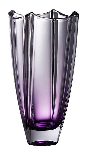 "Galway Amethyst Dune 10"" Square Vase"